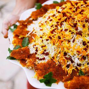 Zereshk Polo Persian food dish